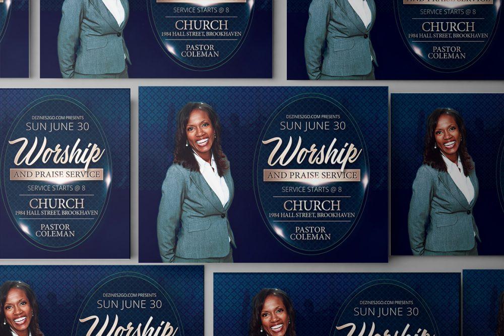 The Worship Church Flyer Template Church Flyer psd photohop