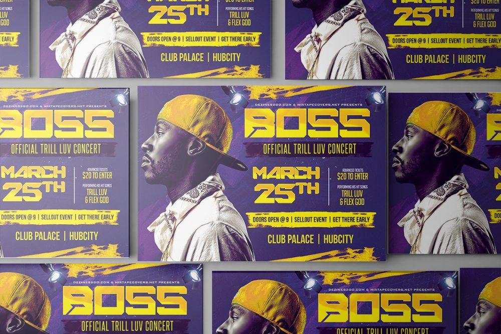 Boss Artist and DJ Flyer Artist/DJ psd photohop