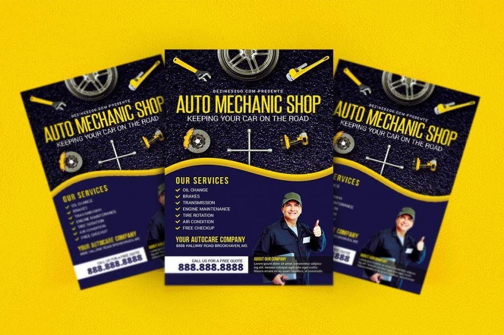 Auto  Mechanic Repair Shop Flyer business flyer psd photohop