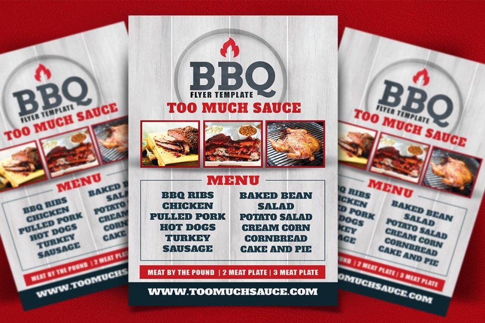 BBQ Restaurant Menu Flyer business flyer psd photohop