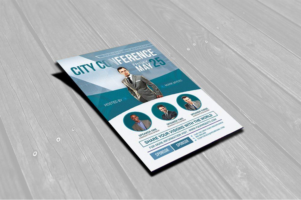 City Conference Flyer Template business flyer psd photohop