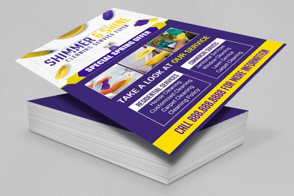 Cleaning Service Flyer Template V1 business flyer psd photohop