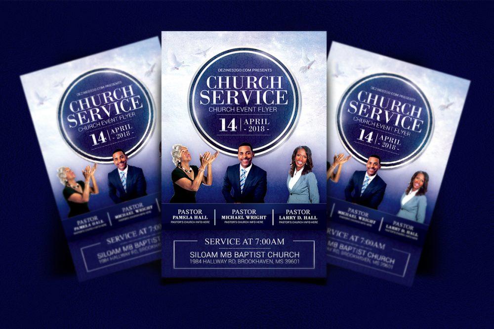 Church Service Flyer Template Church Flyer psd photohop