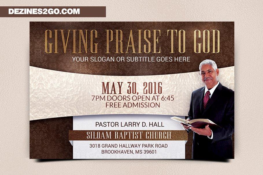 Giving Praise Church Flyer Template Church Flyer psd photohop