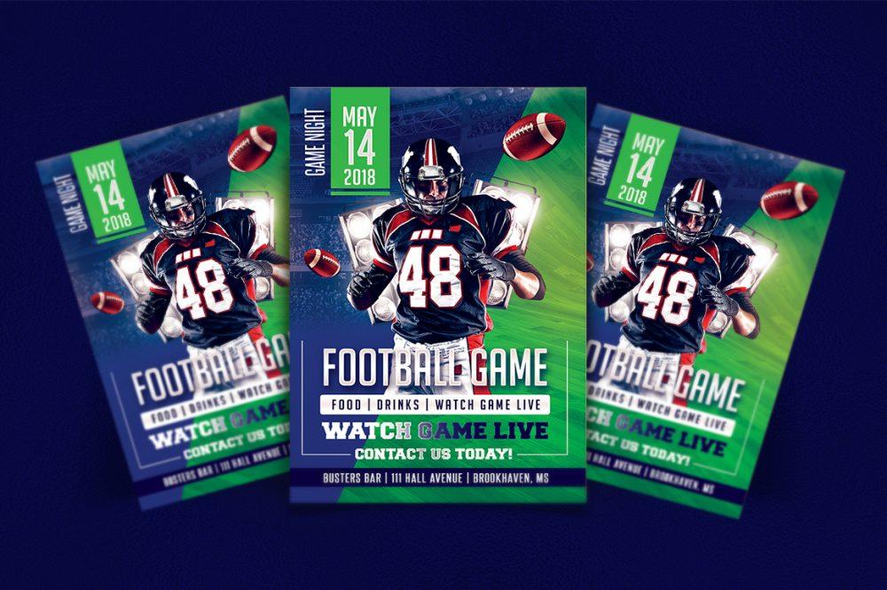 Football GameDay Flyer Template Design Templates psd photohop