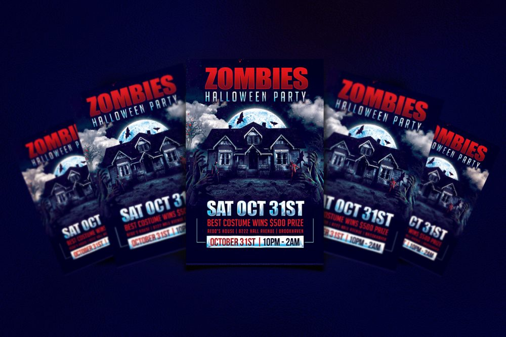 Halloween Party Flyer Template Clubs & Parties psd photohop