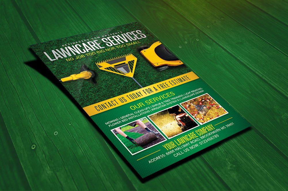 Lawn & Garden Care Flyer Template business flyer psd photohop