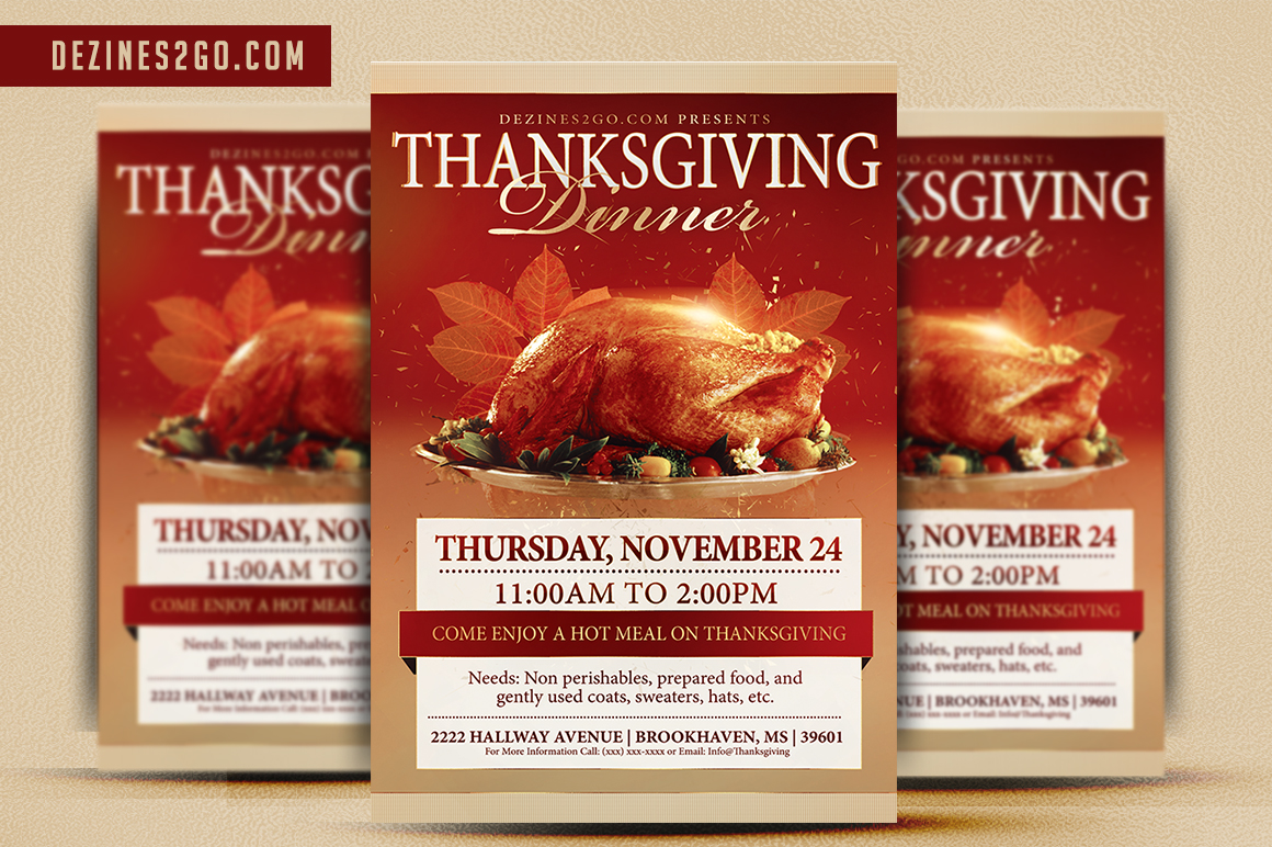 thanksgiving day flyer template design in photoshop