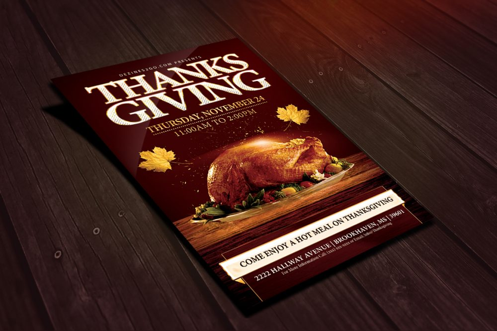 Thanksgiving Holiday Dinner flyer Template Design Templates psd photohop