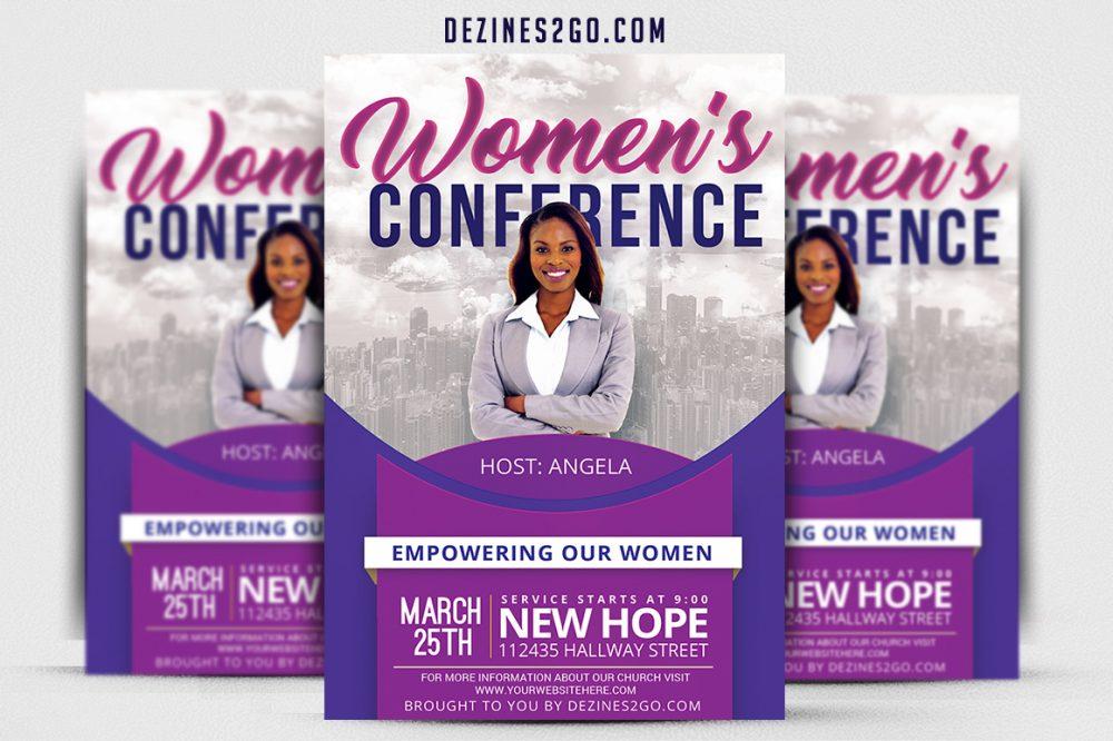 Women's Conference Flyer Template v3 Church Flyer psd photohop